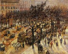 "Копия картины ""Boulevard des Italiens Afternoon"" художника ""Писсарро Камиль"""