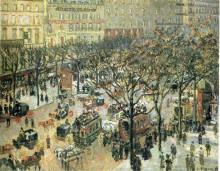 "Картина ""boulevard des italiens morning, sunlight"" художника ""писсарро камиль"""