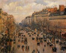 """Репродукция картины """"Boulevard Montmartre Afternoon, Sunlight"""" художника """"Писсарро Камиль"""""""