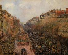 """Репродукция картины """"boulevard montmartre mardi gras"""" художника """"писсарро камиль"""""""