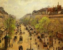 "Картина ""Boulevard Montmartre Spring"" художника ""Писсарро Камиль"""