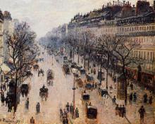"Копия картины ""boulevard montmartre winter morning"" художника ""писсарро камиль"""