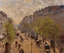 """Репродукция картины """"boulevard montmartre, spring"""" художника """"писсарро камиль"""""""