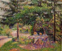 "Картина ""Children in a Garden at Eragny"" художника ""Писсарро Камиль"""