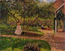 "Картина ""corner of the garden in eragny"" художника ""писсарро камиль"""