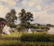 """Репродукция картины """"jubilie celebration at bedford park, london"""" художника """"писсарро камиль"""""""
