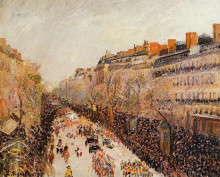 "Копия картины ""mardi gras on the boulevards"" художника ""писсарро камиль"""
