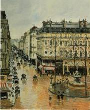 "Репродукция картины ""Rue Saint Honore, Afternoon, Rain Effect"" художника ""Писсарро Камиль"""
