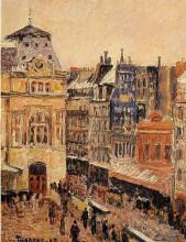 """Картина """"View of Paris, Rue d'Amsterdam"""" художника """"Писсарро Камиль"""""""