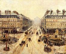 """Копия картины """"avenue de l'opera - effect of snow"""" художника """"писсарро камиль"""""""
