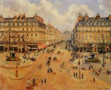 "Картина ""avenue de l'opera morning sunshine"" художника ""писсарро камиль"""