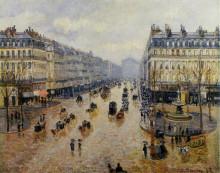 "Картина ""avenue de l'opera rain effect"" художника ""писсарро камиль"""