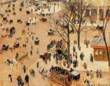 """Репродукция картины """"Place du Theatre Francais"""" художника """"Писсарро Камиль"""""""