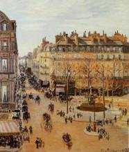 "Репродукция картины ""Rue Saint-Honore, Sun Effect, Afternoon"" художника ""Писсарро Камиль"""