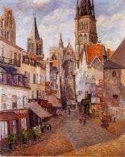 """Копия картины """"Sunlight, Afternoon, La Rue de l'Epicerie, Rouen"""" художника """"Писсарро Камиль"""""""