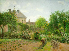 "Картина ""The Artist's Garden at Eragny"" художника ""Писсарро Камиль"""
