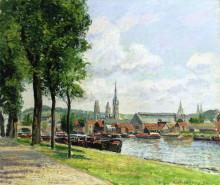 """Картина """"The Cours la Riene, The Notre Dame Cathedral, Rouen"""" художника """"Писсарро Камиль"""""""