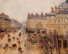 """Копия картины """"Place du Theatre Francais Rain Effect"""" художника """"Писсарро Камиль"""""""