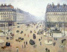 "Картина ""avenue de l'opera, place du theatre francais. misty"" художника ""писсарро камиль"""