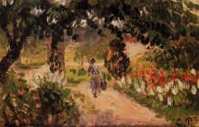 "Картина ""Garden at Eragny"" художника ""Писсарро Камиль"""
