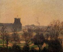 """Картина """"Garden of the Louvre Fog Effect"""" художника """"Писсарро Камиль"""""""