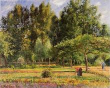 """Картина """"Poplars, Afternoon in Eragny"""" художника """"Писсарро Камиль"""""""