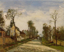 "Репродукция картины ""The Road to Versailles at Louveciennes"" художника ""Писсарро Камиль"""