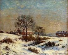"""Копия картины """"landscape under snow, upper norwood"""" художника """"писсарро камиль"""""""