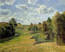 """Картина """"Berneval Meadows, Morning"""" художника """"Писсарро Камиль"""""""