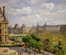 """Копия картины """"place du carrousel, the tuileries gardens"""" художника """"писсарро камиль"""""""