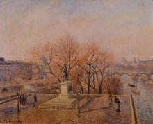 "Копия картины ""Pont Neuf, the Statue of Henri IV, Sunny Weather, Morning"" художника ""Писсарро Камиль"""