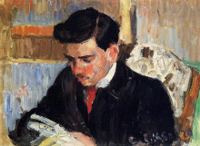 "Картина ""portrait of rodo pissarro reading"" художника ""писсарро камиль"""
