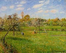 """Картина """"spring morning, cloudy, eragny"""" художника """"писсарро камиль"""""""