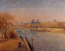 "Копия картины ""The Louvre, Winter Sunshine, Morning"" художника ""Писсарро Камиль"""