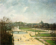 "Картина ""the tuileries gardens, afternoon, sun"" художника ""писсарро камиль"""