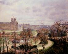 """Репродукция картины """"view of the tuileries, morning"""" художника """"писсарро камиль"""""""