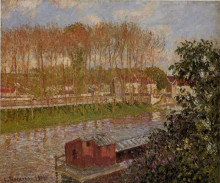 "Копия картины ""Sunset at Moret-sur-Loing"" художника ""Писсарро Камиль"""