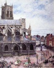 "Репродукция картины ""The Church of Saint Jacues, Dieppe, Rainy Weather"" художника ""Писсарро Камиль"""