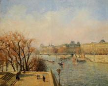 """Картина """"The Louvre, Morning, Sun"""" художника """"Писсарро Камиль"""""""