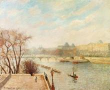 "Копия картины ""The Louvre, Winter Sunlight, Morning, 2nd Version"" художника ""Писсарро Камиль"""