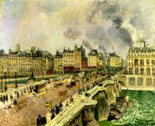 """Картина """"the pont neuf, shipwreck of the bonne mere"""" художника """"писсарро камиль"""""""