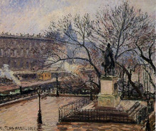 "Репродукция картины ""The Raised Tarrace of the Pont Neuf and Statue of Henri IV"" художника ""Писсарро Камиль"""