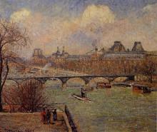 """Репродукция картины """"view of the seine from the raised terrace of the pont neuf"""" художника """"писсарро камиль"""""""