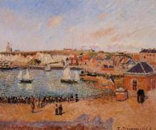 "Репродукция картины ""the inner harbor, dieppe afternoon, sun, low tide"" художника ""писсарро камиль"""