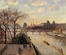 """Картина """"The Louvre and the Seine from the Pont Neuf"""" художника """"Писсарро Камиль"""""""