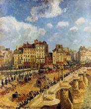 """Копия картины """"the pont neuf"""" художника """"писсарро камиль"""""""