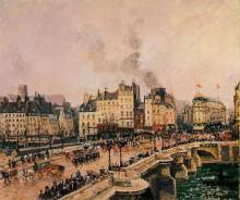 """Копия картины """"the pont neuf 2"""" художника """"писсарро камиль"""""""