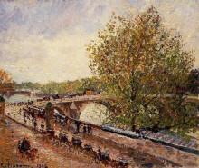 "Копия картины ""the pont royal, grey weather, afternoon, spring"" художника ""писсарро камиль"""
