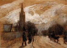 """Картина """"study for 'all saints' church, upper norwood'"""" художника """"писсарро камиль"""""""