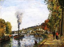 """Копия картины """"The Seine at Marly"""" художника """"Писсарро Камиль"""""""